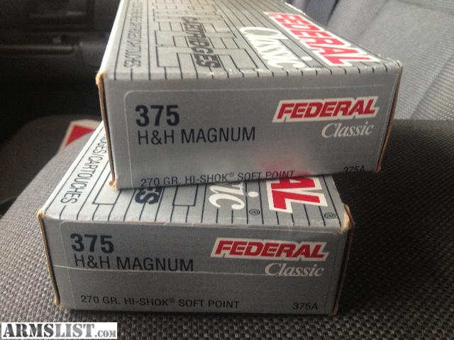 For Sale/Trade: 375 H & H Magnum Ammunition