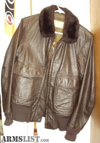 ARMSLIST - For Sale: VINTAGE USN US NAVY LEATHER FLIGHT JACKET