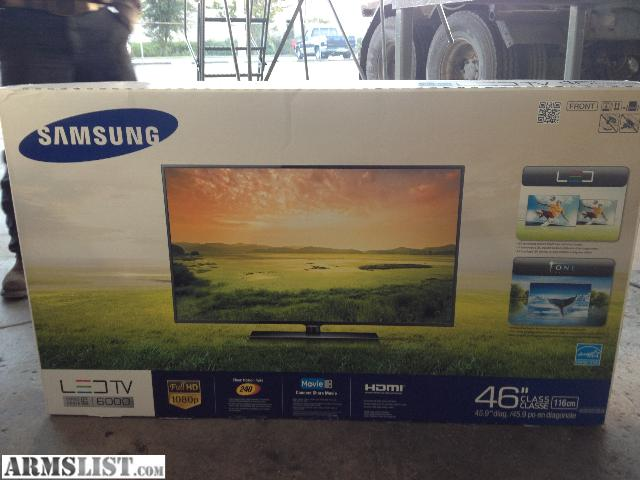samsung tv box. i have a brand-new 46 inch led samsung tv won the christmas party last week at my work looking to trade for ak47 or sagia 12 this tv cost like $1000 box t