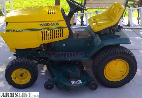 Yard Man Riding Lawn Mower Parts : Armslist for sale trade yard man riding lawn mower tractor