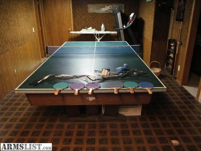 I Have A Really Nice 8 Foot Slate Pool Table For Sale Its In Pretty Dang  Good Condition, I Will Throw In The Custom Cut And Fit Ping Pong Table With  The ...