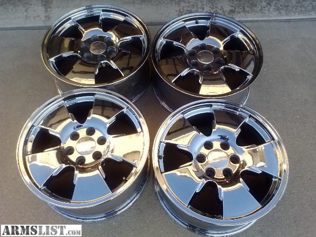 yukon chrome rim rims wheels shop black chevy oem gmc