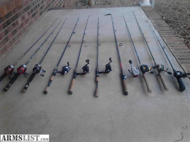 Armslist for sale trade 10 nice fishing rods and reels for Fishing rods and reels for sale