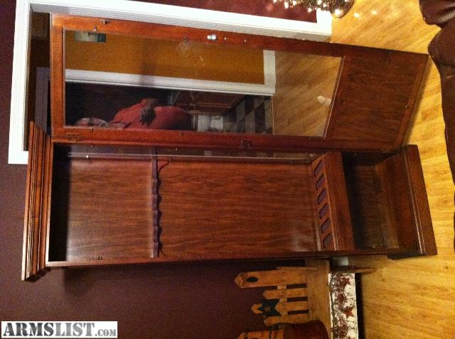 ARMSLIST For SaleTrade Wood gun rifle cabinet not a safe but