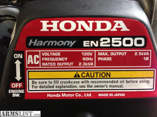Armslist For Sale Trade Honda Harmony En 2500 Generator