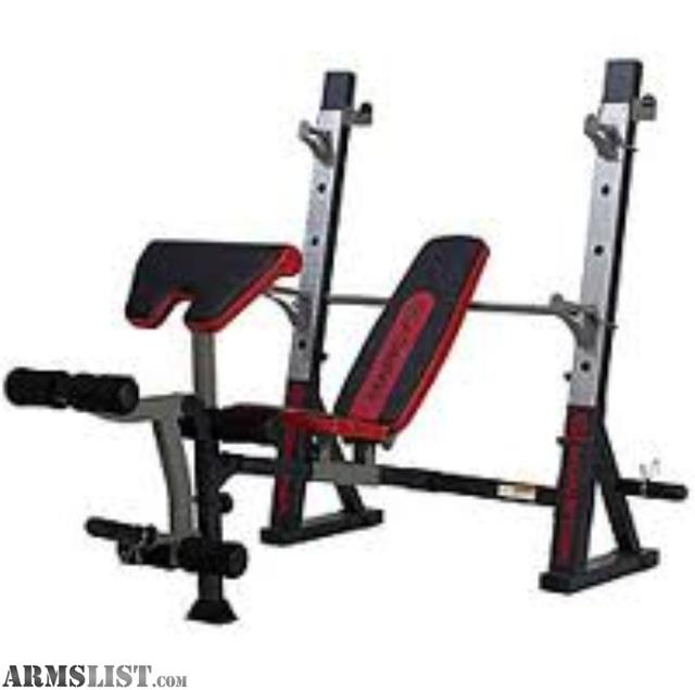 ARMSLIST For Sale Olympic weight set barplates and multistage bench