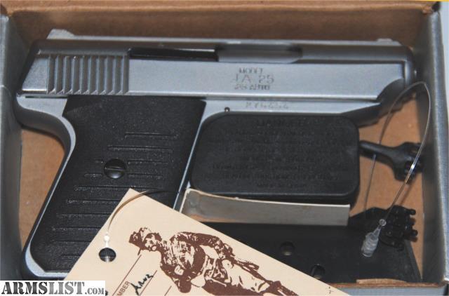 ARMSLIST - For Sale: Jimenez Arms JA 25, Satin, NEW IN BOX