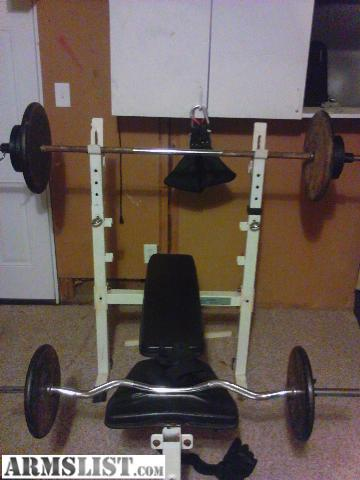 Armslist For Sale Trade Weight Bench And 300 Pounds Of Steel Weights