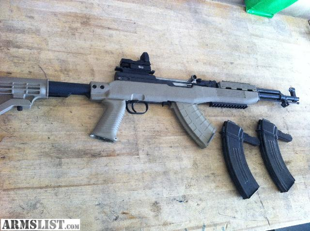 Awesome Gun With Optic And Rails With All Tapco Furniture. Gas Tube And  Springs All New, Gun Has Only 200 Rounds Down It Text REDACTED For Info
