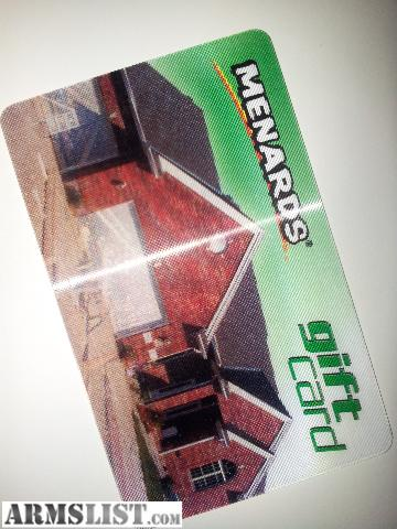 ARMSLIST - For Sale/Trade: Menards Gift Card for FOID items