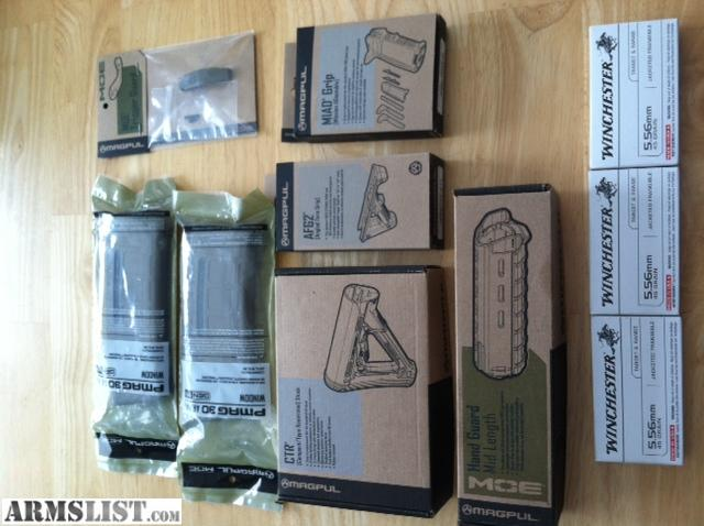 Armslist For Sale Full Magpul Fde Furniture Kit W Pmags And Ammo