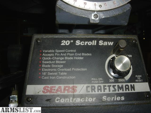 Armslist for sale craftsman 20 scroll saw for sale craftsman 20 scroll saw keyboard keysfo Image collections