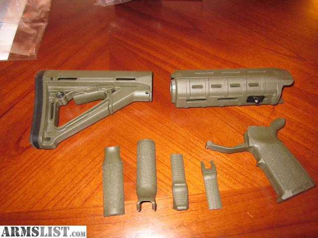 Armslist For Sale Magpul Od Green Ar15 Furniture Set