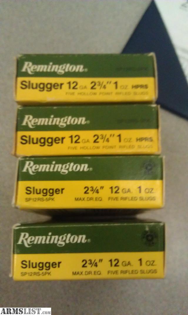 Armslist for sale remington slugger 12ga 2 3 4 1oz hprs for 12 gauge slug ballistics table