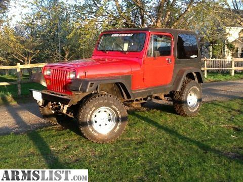 ARMSLIST - For Sale: 87 Jeep Wrangler with hard top