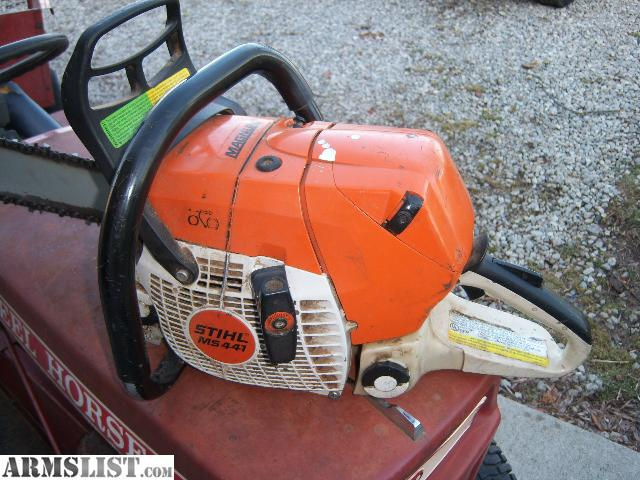 armslist for sale trade stihl ms441 magnum chain saw 20 barr runs great trade for fire arms. Black Bedroom Furniture Sets. Home Design Ideas