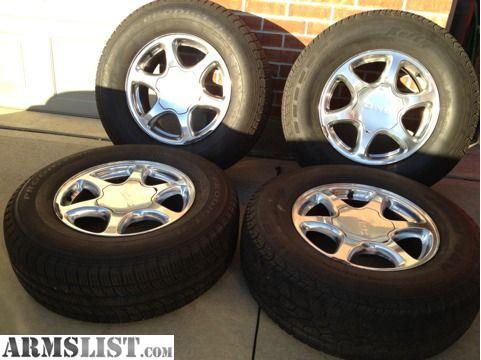 armslist for sale trade gmc denali factory 17 wheels tires rims sierra pickup truck. Black Bedroom Furniture Sets. Home Design Ideas