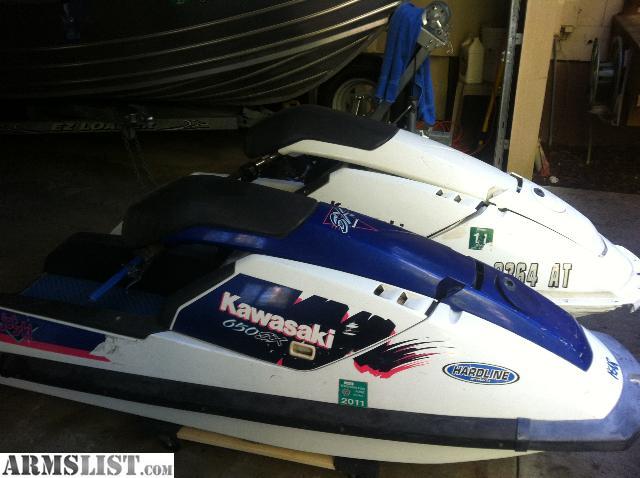 armslist for sale trade two kawasaki jet ski 650sx. Black Bedroom Furniture Sets. Home Design Ideas