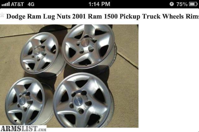 2013 Dodge Ram 1500 Lug Pattern