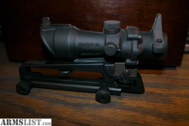 ARMSLIST - For Sale: Trijicon ACOG Tactical Scope with AR ... M16 Acog