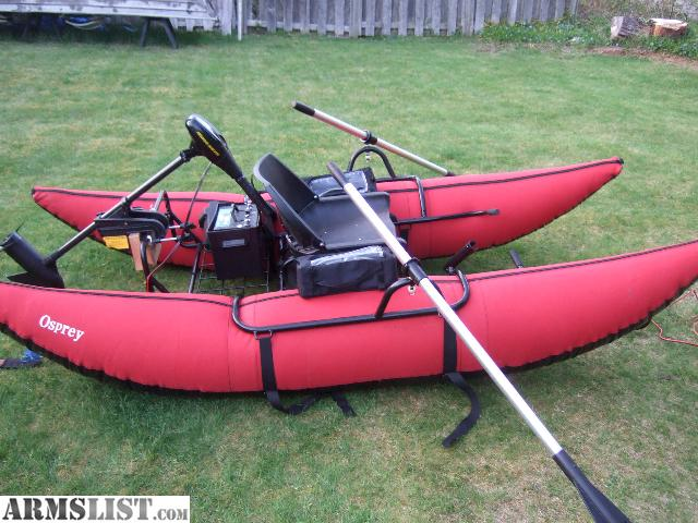 Armslist for sale trade 9 foot osprey pontoon w batt for Trolling motor on sale