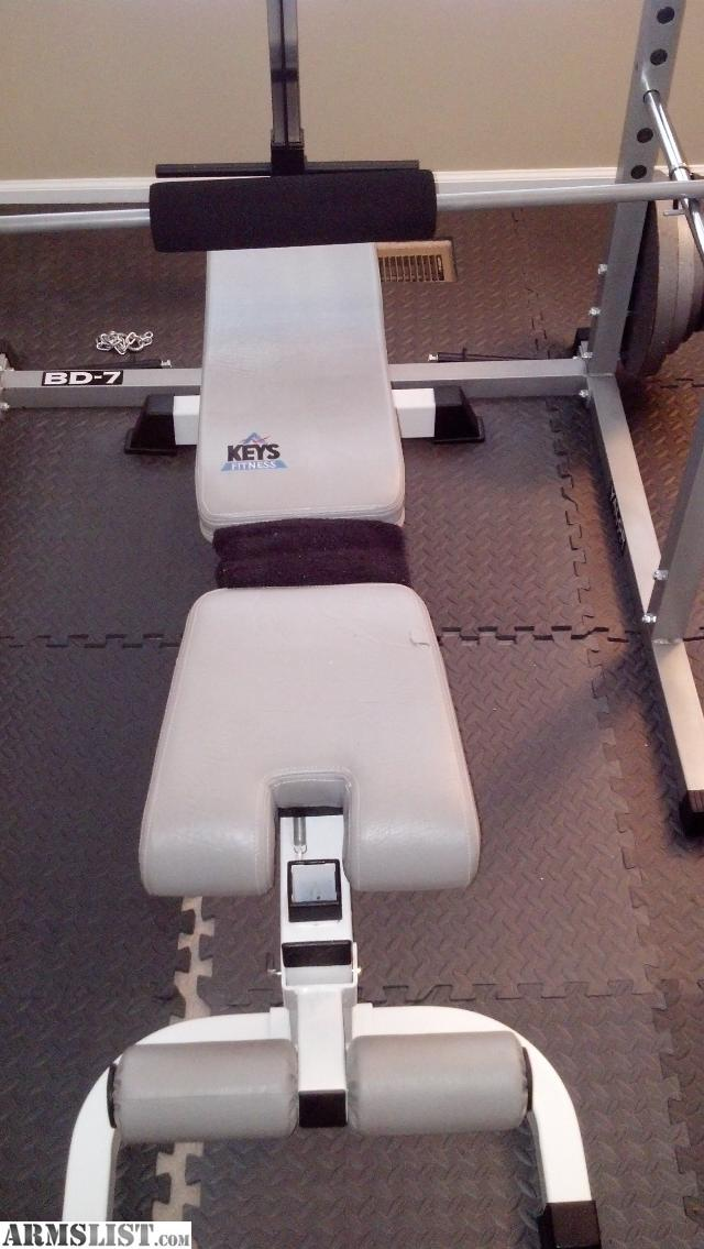 Armslist For Sale Trade Olympic Weights Power Rack Adjustable Bench
