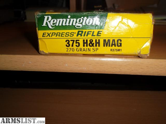 For Sale: 375 H&H Mag Ammo