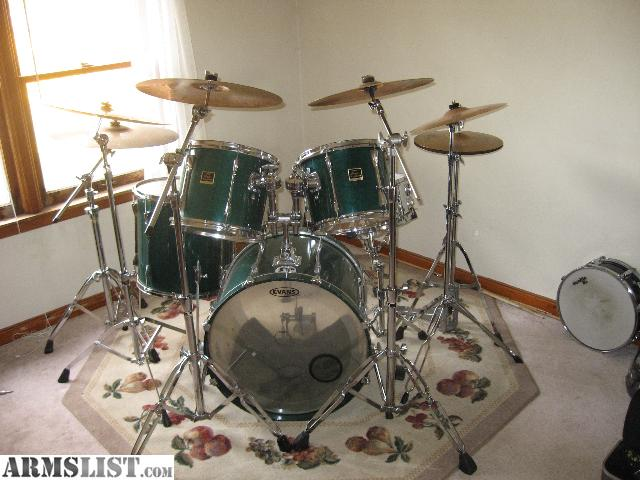 Armslist for sale trade complete drum set yamaha for Yamaha stage custom steel snare drum 14x6 5