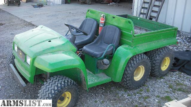 armslist for sale 6x4 john deere gator w electric bed trade for guns. Black Bedroom Furniture Sets. Home Design Ideas