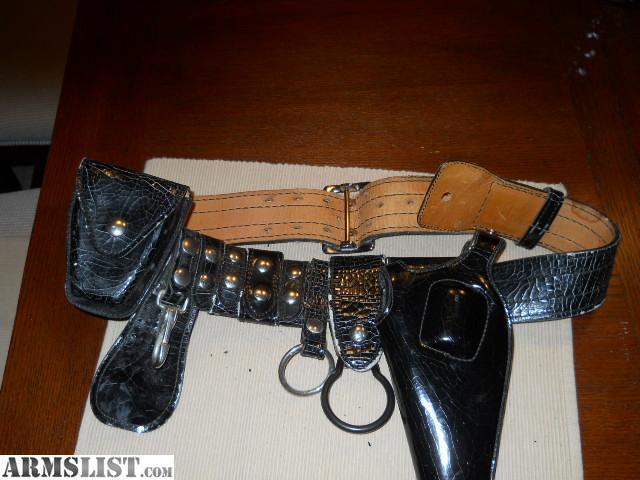armslist for sale black leather gun belt
