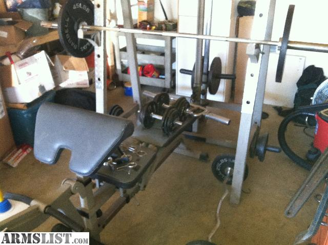 Armslist For Sale Trade Home Gym Weight Bench Set And Pully System