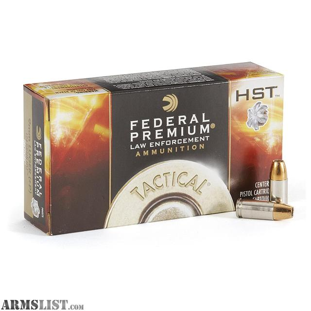 ARMSLIST - For Trade: Federal Tactical HST 9mm Jacketed Hollow points & American Eagle (made by ...