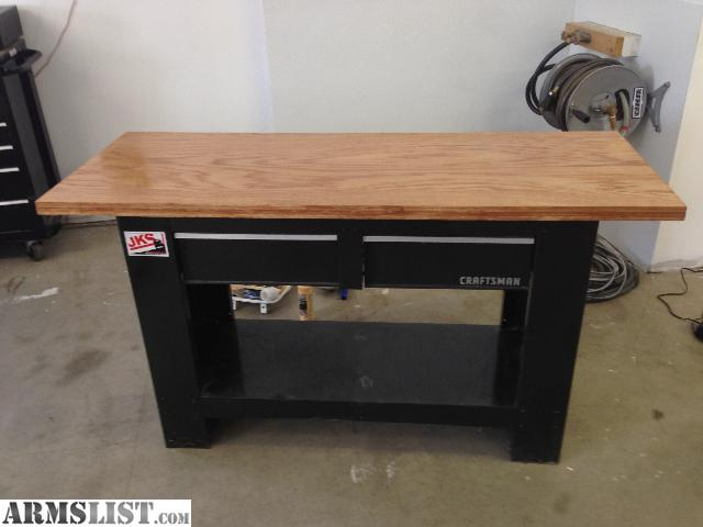 armslist for sale reloading bench 1 5 solid oak top and two pull out drawers
