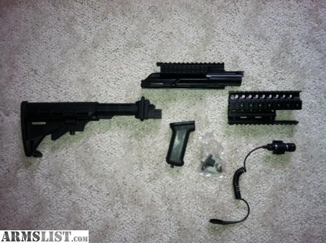 armslist - for sale: ak 47 tactical furniture- rails, collapsible