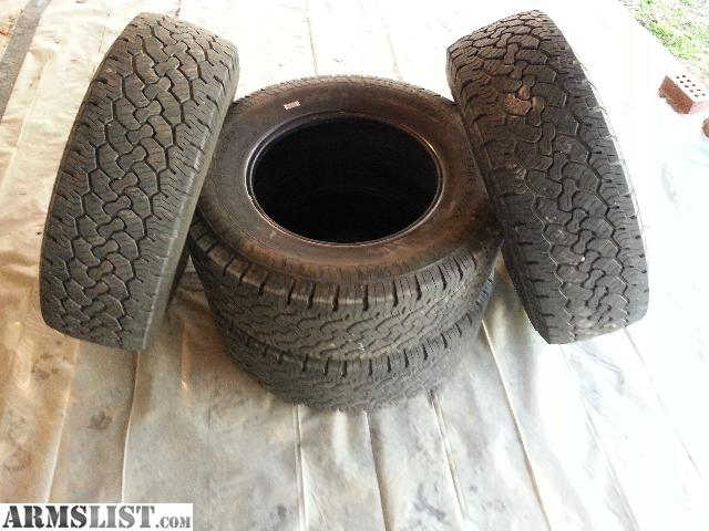 ... Good Tread Depth And 2 Have Good Depth. Off Of A 2005 F 250 Truck And  Itu0027s The Same Size That Goes On Most Ford Expiditions. B.F. Goodrich Rugged  Trail ...