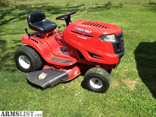 Armslist for sale trade riding mower lawn tractor 42 for Small lawnmower shed