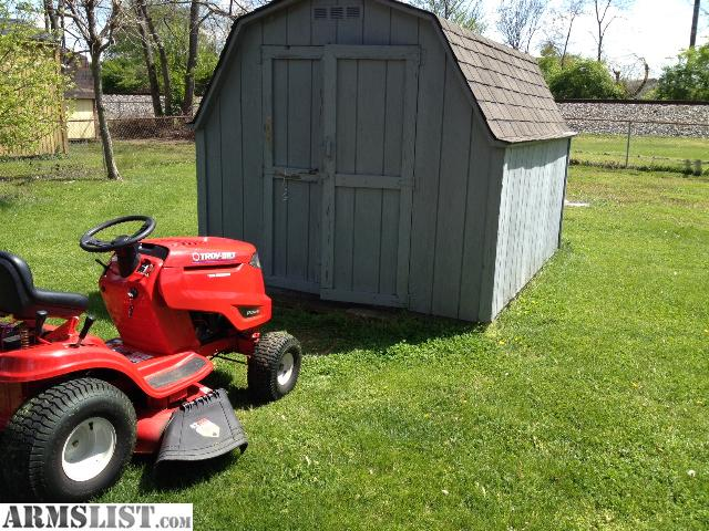 Armslist for sale trade riding mower lawn tractor 42 for Lawn mower shed