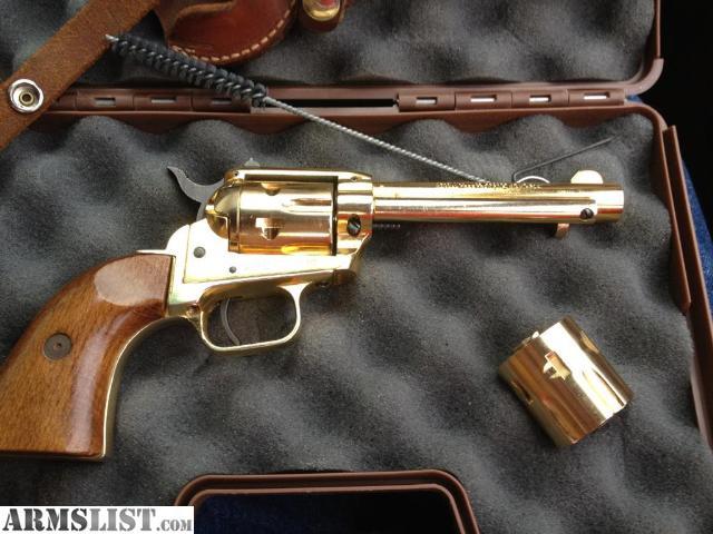 ARMSLIST - For Sale: gold 22 magnum revolver