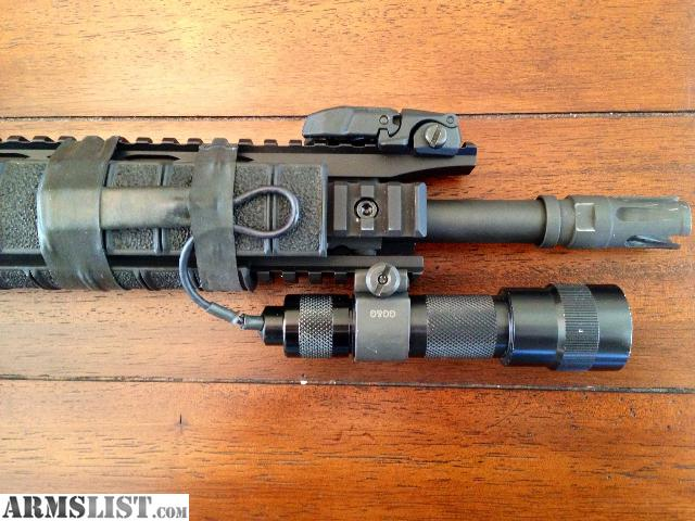ARMSLIST - For Sale: Surefire Weapon Light with pressure switch ...:For sale is a Surefire weapon light with a pressure switch and an LED bulb.  I cannot remember the exact lumens of the LED but it is around 150.,Lighting