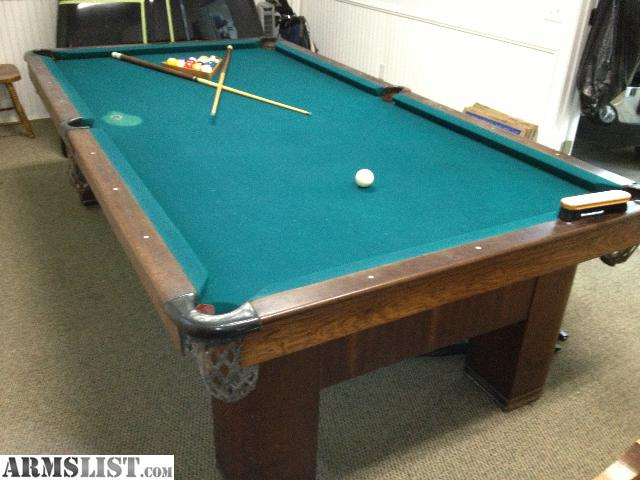 9 Foot, Slate Top Pool Table. I Have Appraisal Paperwork That Has The Table