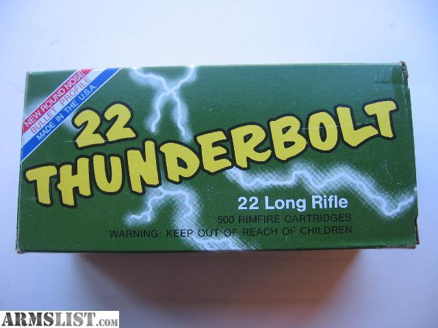 ARMSLIST - For Sale: Remington Thunderbolt 22 lr. ammo