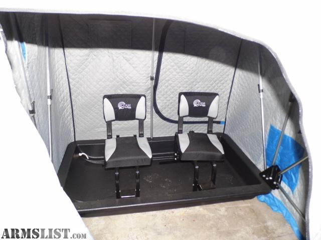 Armslist for sale trade clam 2 person shelter thermal for Clam ice fishing shelters