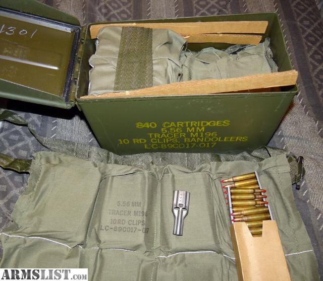 For Sale: 2 Cans 5.56mm / .223 M196 Tracer Ammo