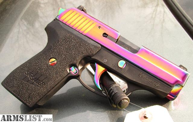 armslist for sale sig sauer p239 40 s w rainbow titanium. Black Bedroom Furniture Sets. Home Design Ideas