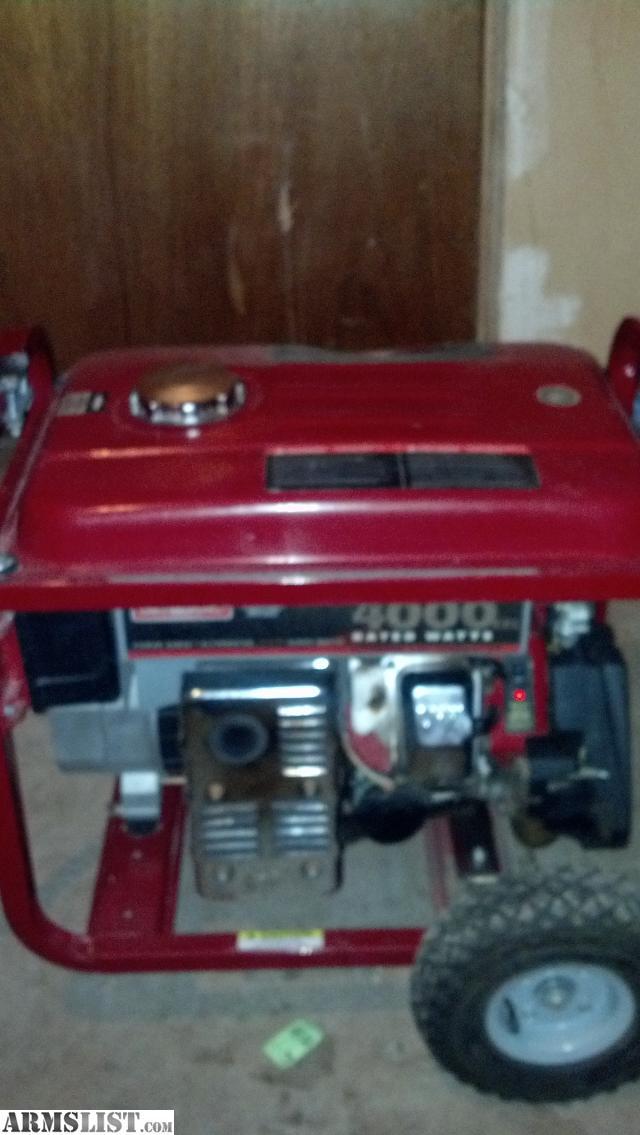 ARMSLIST - For Sale: Generac 4000 Generator