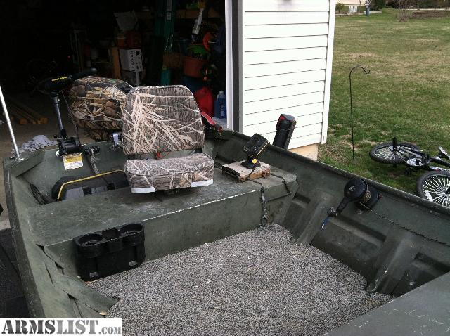 Armslist for trade ready to fish or hunt for Fish finder for jon boat
