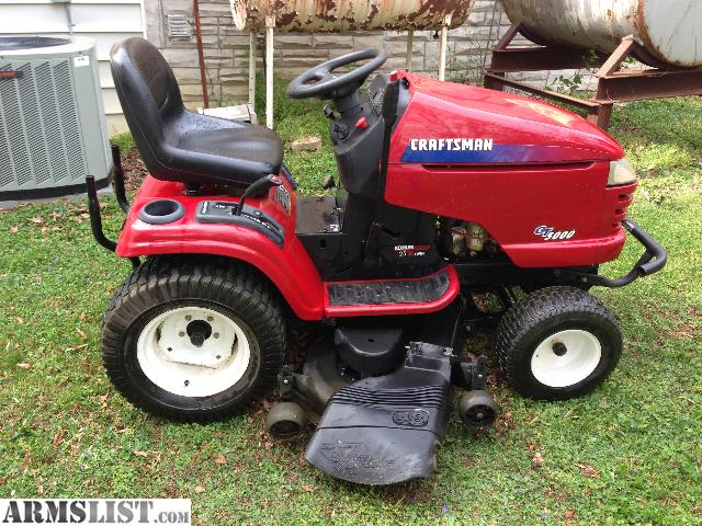 Old Craftsman Garden Tractors : Armslist for sale trade craftsman gt lawn tractor