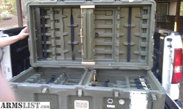 for sale waterproof miltary surplus gun storage boxes