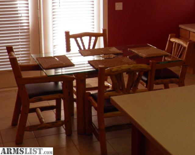 armslist for sale log furniture dining room table chairs side