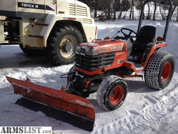 Front Mount Tractor Snow Plow : Armslist for sale kubota b wd diesel tractor with
